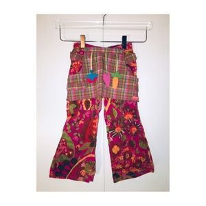 * KIDS * OILILY VELOUR PANTS WITH APRON